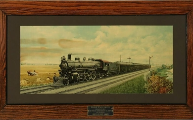 ROCK ISLAND 'GOLDEN STATE LIMITED' ADVERTISING PRINT