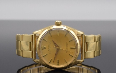 ROLEX 14k yellow gold gents wristwatch Oyster Perpetual,...