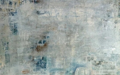 Su Ling Wang (Taiwanese Contemporary) Abstract with Wine Glass