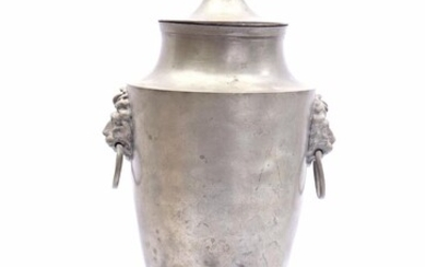 (-), Pewter tap jug, early 19th century 41...