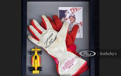 Tony Stewart Race Worn Gloves with One Signed