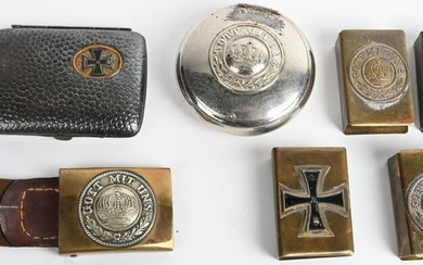 WWII IMPERIAL GERMAN TRENCH ART CIGARETTE CASE +