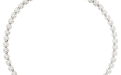 White Gold and Diamond Floret Necklace