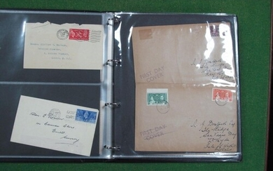 A Collection of EdVIII and GVI First Day Covers, from GB and...