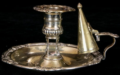 A George IV sterling taperstand, Sheffield, c1840