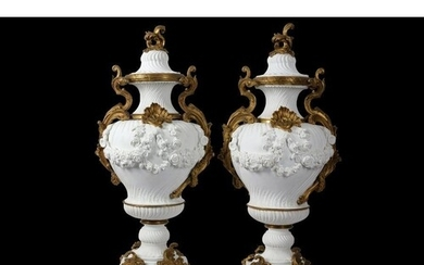 A PAIR OF VERY LARGE 19TH CENTURY FRENCH GILT BRONZE MOUNTED...