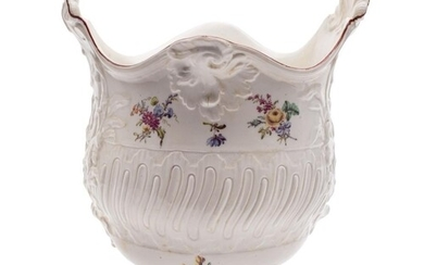A rare Chelsea 'rococo' pedestal ice bucket: with shell and ...