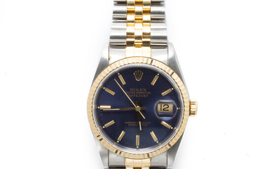 A two-tone wristwatch, Oyster Perpetual DateJust, Rolex