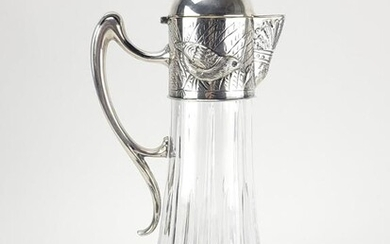 Antique French Crystal Silver Decanter