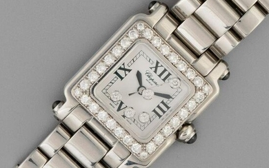 Chopard, Stainless Steel and Diamond Happy Sport Square