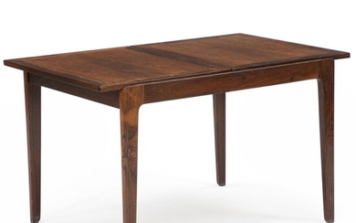 Finn Juhl: Coffee table of rosewood with sliding top, under which glass shelf. Manufactured and marked by France & Søn. – Bruun Rasmussen Auctioneers of Fine Art
