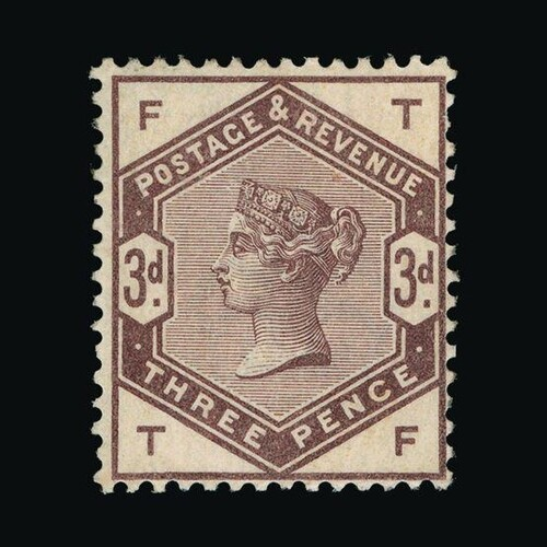 Great Britain - QV (surface printed) : (SG (191)) 1883-84 3d...