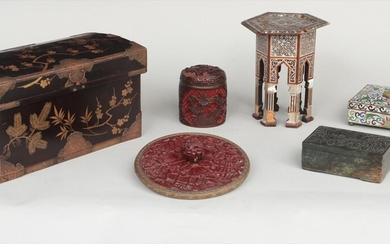 Group of (6) Oriental and Asian items. FR3SH.