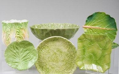 Group of Ceramic Lettuce Wares, Many Italian and
