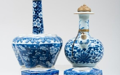 Group of Chinese Export Blue and White Porcelain