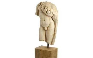 Italian Marble Roman Style Torso After the Antique.