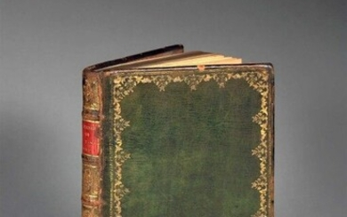 [Manuscript]. LAFFREY. Abstract of ancient history with philosophical & political reflections. By Mr. Laffrey. S.l., s.n., [ca. 1760]. In-8, [2] f. (title, dedication), 120 p., [1] f. (table), [18] blank pages, contemporary green morocco, spine...