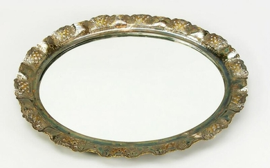 Oval wall mirror, 1st half of 20th