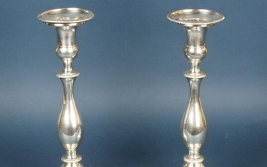 Pair of English Silver Plate Candlesticks