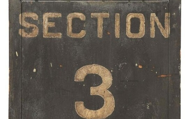 SECTION 3 & 4 HAND PAINTED WOODEN TRAIN STATION SIGN.