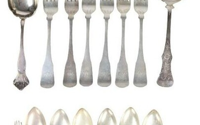 Silver Plated Serving Spoons and Fork