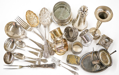 Silverplate (30) Coasters, Napkin Rings and More