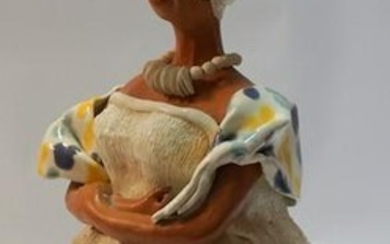 Southern School Figural Pottery Woman