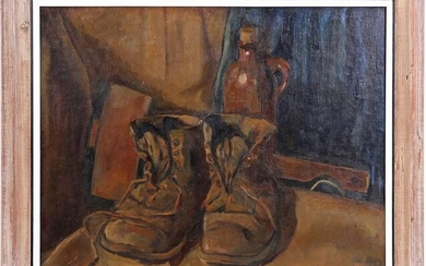 Still life with pair of shoes