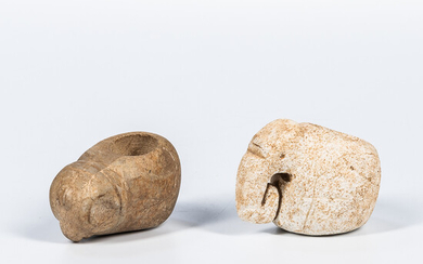 Two Costa Rican Stone Mace Heads