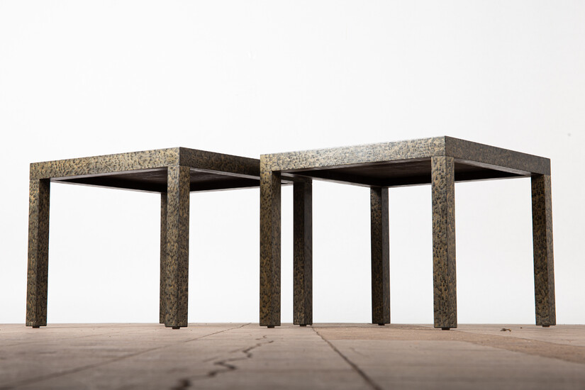 Two coffee tables / side tables, wood, 1980s (2).