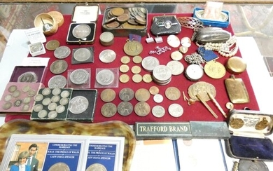 A 1892 silver crown, two 1951 Festival of Britain crowns, a ...