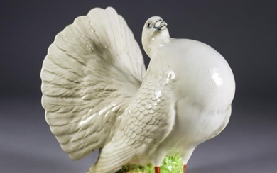 A Beswick Pottery Fantail Pigeon, Model No. 1614, 6ins...