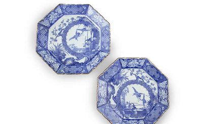 A LARGE PAIR OF JAPANESE BLUE AND WHITE...