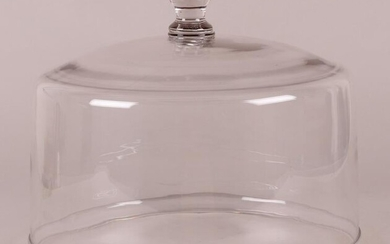 A Large blown Glass Cake Dome