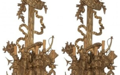 A Pair of Monumental French Louis XV-Style Gilt
