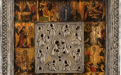 A RARE ICON SHOWING THE MOTHER OF GOD 'OF THE...