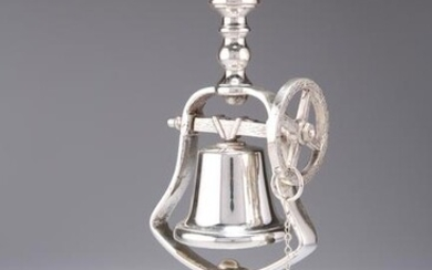 A VICTORIAN SILVER-PLATED TAVERN SERVICE CANDLESTICK
