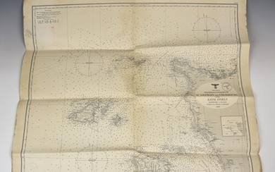 A rare German Kriegsmarine map of the Channel Islands depict...