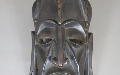 AFRICAN MASK - dark stained wood.