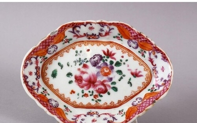 AN 18TH CENTURY CHINESE EXPORT FAMILLE ROSE PORCELAIN DISH, ...