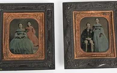 CIVIL WAR TINTYPE LOT OF MARY TODD LINCOLN FAMILY