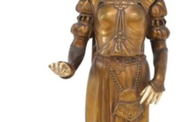 D.Watrin French bronze and ivory figure