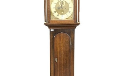 Early 19th century country eight day longcase clock, the...