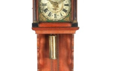 (-), Frisian tail clock with painted dial and...