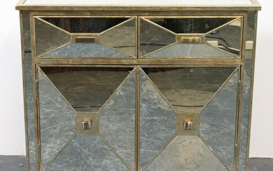 Hollywood Regency Style Mirrored Cabinet