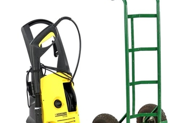 (-), Kärcher high-pressure cleaner K5.85 and metal green-painted...
