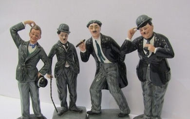 LAUREL & HARDY, pair of Royal Doulton limited edition figure...