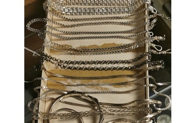 Large Collection of 925 Marked Silver Jewellery & Chains - (...