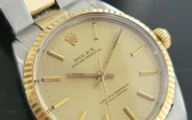 Mens Rolex Oyster Perpetual 5500 35mm 14k Gold SS