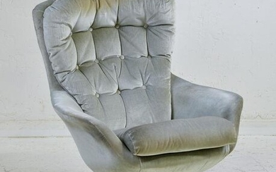 Mid Century Modern Button Tufted Lounge Chair